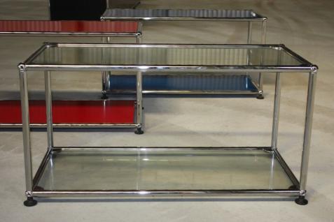Original USM Haller Fach Regal Glas-böden Tisch Vitrine Schrank Vitra Gebraucht