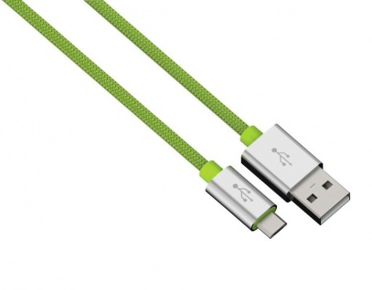 Hama 0, 5m Micro USB Kabel Alu Nylon Ladekabel Daten-Kabel Sync Handy Tablet Navi