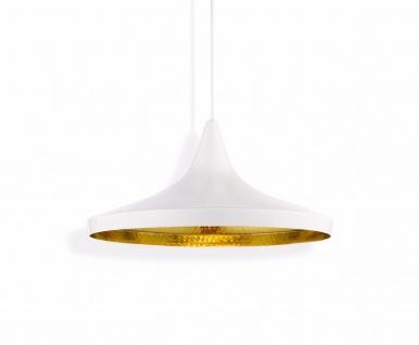 Tom Dixon Design Beat Wide White Pendant Pendel-Lampe Decken-Leuchte Weiß Metall