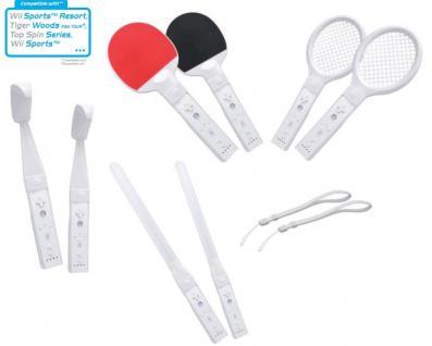 12in1 Sport-Set Tennis-Schläger Golf Schwert etc für Wii WiiU Wiimote Controller