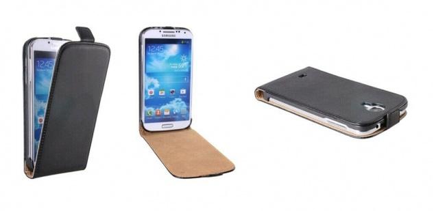 Patona Slim Klapp-Tasche Schutz-Hülle Cover für Samsung Galaxy I9500 SIIII S4