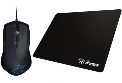 Roccat Set Gaming Bundle Lua Tri-Button Mouse + Kanga Gamer Mouse-Pad Maus-Pad
