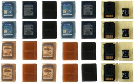 Hama 24x Game Case Spiele-Hülle Tasche Spiel Box Karte für Sony PS Vita PSV Slim