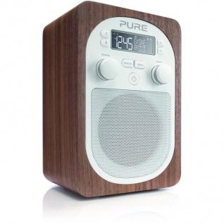 Pure Evoke D2 Digital-Radio FM UKW Walnuß DAB DAB+ RDS Tuner AUX Wecker tragbar