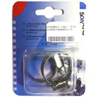 ScanPart 2x Schlauchschellen 20-32mm Breite 9mm für Waschmaschine Geschirrspüler