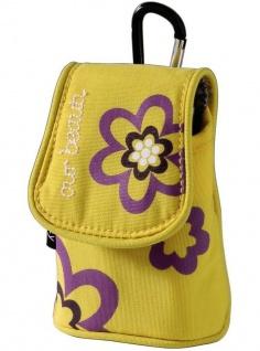 Hama Handy-Tasche Köchertasche Our Beaury Gelb/Lila Nylon Schutz-Hülle Case Bag