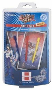 Yu-Gi-Oh GX Style Set Folie Skin Cover Aufkleber Stifte Pen für Nintendo DS Lite