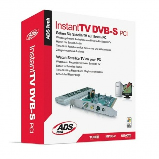 ADS Tech DVB-S PCI Card Hybrid + FM TV Tuner TV-Karte DVB-S1 HD Emfangskarte