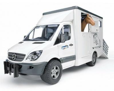 Bruder 02533 Mercedes Benz Sprinter Tiertransporter mit Pferd Pferder-Anhänger