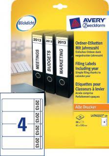 Avery Zweckform 80x Ordnerrücken A4 Breit 2013 Ordner-Etiketten Rückenschilder