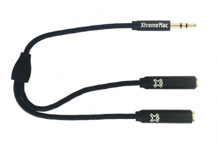 XtremeMac Splitter Klinken-Kabel Klinken-Adapter 3, 5mm Stecker 2x Buchse Y-Kabel