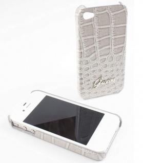 Guess Hard-Cover Croco Optik Tasche Schutz-Hülle Hard-Case für Apple iPhone 4s 4