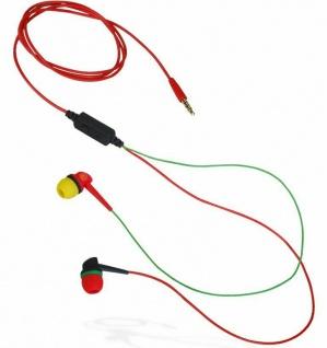 Aerial7 Apex Dark Rasta InEar Headset Mikrofon 3, 5mm Klinke Kopfhörer Handy MP3