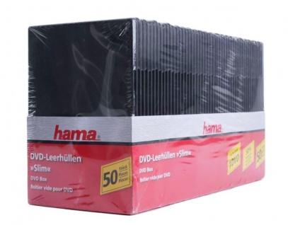 Hama 50x PACK Slim DVD-Hülle 1er 1-Fach Leer-Hüllen Box für CD DVD Blu-Ray Disc
