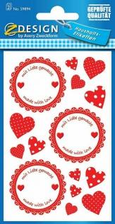 Avery Haushaltsetiketten Aufkleber Sticker Einmach-Etiketten Siegel Emblem Glas