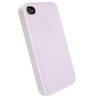 Krusell BIO Glas Cover Tasche rosa für Apple iPhone 4 4S Hard-Case Bag Hülle