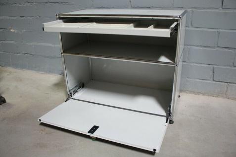 USM Haller Sideboard Druckerport Ablage mit Klappe und Tablar-Auszug Regal - Vorschau 3