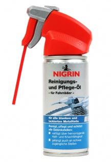 Nigrin Bike Reinigungs-Öl + Pflege-Öl 100ml Spray Fahrrad-Reiniger Schmiermittel