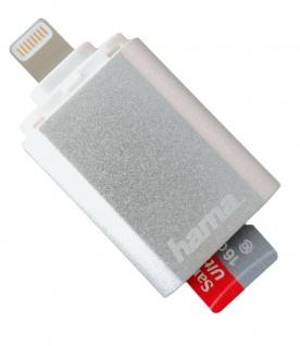 Hama Lightning Kartenleser micro-SD OTG Adapter für Apple iPad iPad Pro Air mini