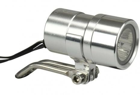 Fischer Dynamo LED Scheinwerfer 20 Lux Alu Stand-Licht Fahrrad-Lampe Beleuchtung