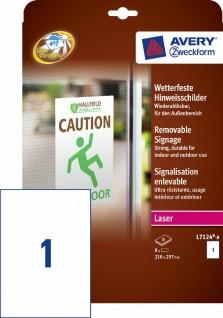 Avery Zweckform 8 A4 Etiketten wetterfest Outdoor Aukleber Beschriftung Schilder