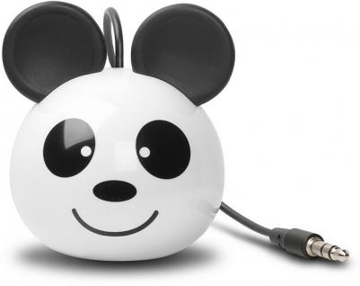 Cellux tragbarer Lautsprecher Panda 3, 5mm Klinke für Handy MP3 Player Weiß