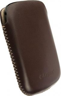 Krusell Donsö Mobile Pouch S brown Leder-Tasche Etui Flap Bag Hülle