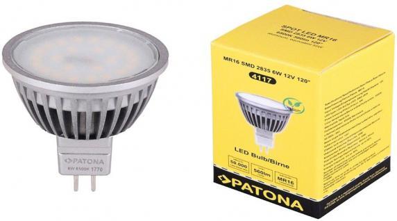 Patona LED Strahler MR16 6W / 55W Kalt-weiß 6500K Lampe Glüh-Birne Leuchtmittel