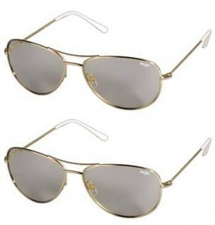 2x Pack EX3D Flieger Gold 3D Brille Polfilterbrille passiv für 3D-TV Kino RealD