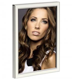 Hama Portraitrahmen Metall weiß 15x20cm Portrait Bilder-Rahmen Foto Bild Porträt