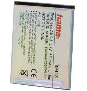 Hama Li-Ion Akku Batterie für Sony Ericsson BST-40 BST-33 K800i W850i M600i P1i - Vorschau