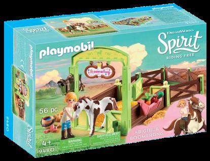 "Playmobil 9480 Pferdebox "" Abigail & Boomerang"" Spirit Pferdestall Pony Spielzeug"