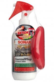 Sonax Kunststoff-Pflege 300ml + Schwamm Spray Reinigung Reiniger KFZ PKW Auto