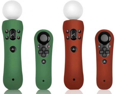 2x SET Silikon Skin Schutz-Hülle für Sony PS3 PS4 Move Navigation Controller Pad