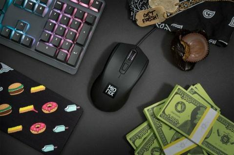 Mionix Gaming + Artists Maus Avior Black Optisch USB PC Mouse Native 5000 DPI