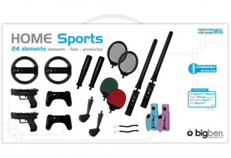24in1 Sport-Set Tennis-Schläger Lenkrad Pistole für Wii WiiU Wiimote Controller