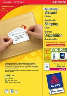 Avery Zweckform L7973 1000x Adress-Etiketten A4 Drucker B4 C4 C5 Adressaufkleber - Vorschau 1