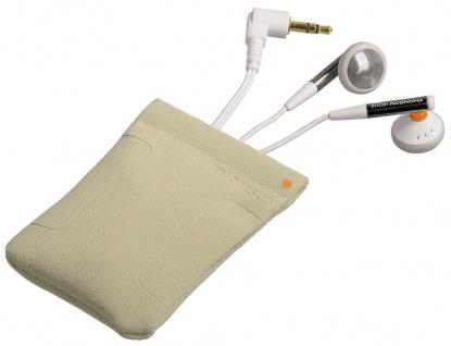 Thomson HED112N Mikro-Kopfhörer Headset Design-Transportbeutel 3, 5mm Klinke weiß