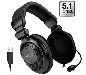 Speedlink Medusa NX USB 5.1 Surround PC Gaming Headset Gamer Kopfhörer Over-Ear