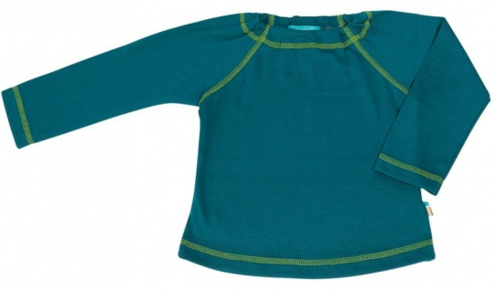 Tragwerk Shirt Finn Jersey Petrol Gr 56 Baby Junge Mädchen T-Shirt Langarm Pulli