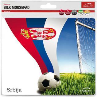 Speedlink Mousepad Mauspad Motiv Fußball Fan Fahne Serbien Serbia Mouse Maus Pad
