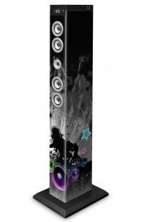 Bigben 2.1 Sound-Tower DJ Bluetooth Party-Lautsprecher LED Box AUX USB MP3 Radio