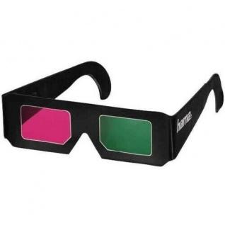 Hama Papier Farbfilterbrille 3D Brille Rot/Grün für 3D Kino Filme TV Comic etc.