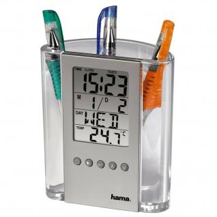 Hama LCD-Thermometer und Stifthalter Uhr Kalender Wecker Geburtstagsfunktion