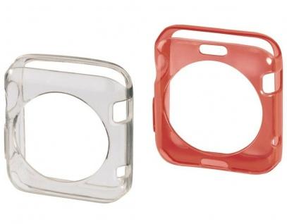 Hama 2x Schutz-Hülle Set Skin TPU Cover Case für Apple Watch 42mm Series 0 1