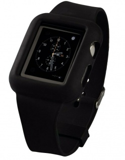 Hama Silikon Uhren-Band Armband Sport-Band Hülle für Apple Watch 42mm Series 0 1