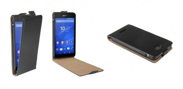 Patona Slim Flip-Cover Klapp-Tasche Schutz-Hülle Case Cover für Sony Xperia E4