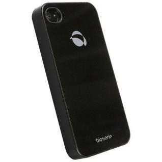 UVP39, 90? Krusell BIO Glas Cover Tasche schwarz für Apple iPhone 4 4S Hard-Case