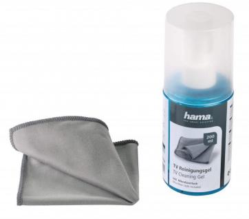 Hama Reinigungsgel + Mikrofaser-Tuch für Plasma LCD LED TV-Bildschirme Display
