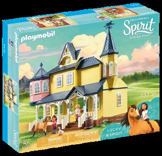Playmobil 9475 Luckys glückliches Zuhause Familienhaus Spielzeughaus Pferd Pony